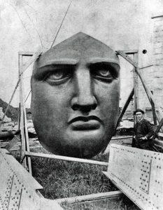 Лицо статуи свободы