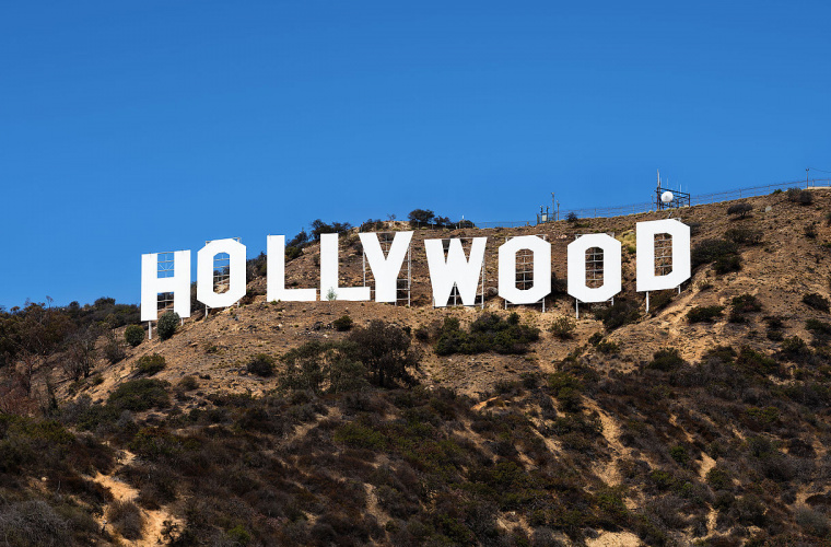 Надпись HOLLYWOOD, Лос-Анджелес