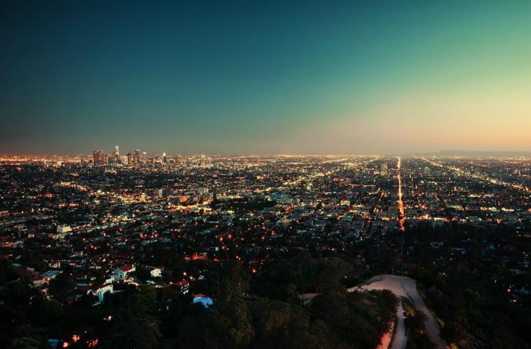 Вид на Лос-Анджелес